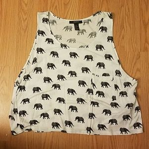 Elephant crop tank top Forever 21